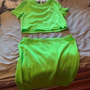 Sorella Boutique Lime Green Two Piece Set